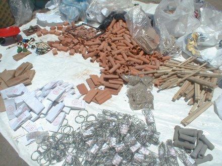Materiales de construcción en minuatura