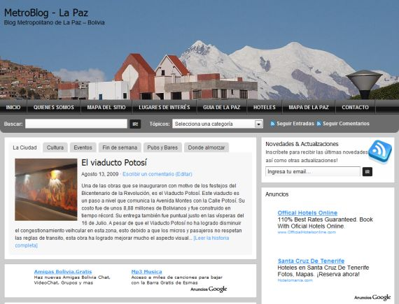 El MetroBlog -Layout 2012