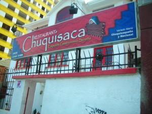 Restaurant Chuquisaca en La Paz