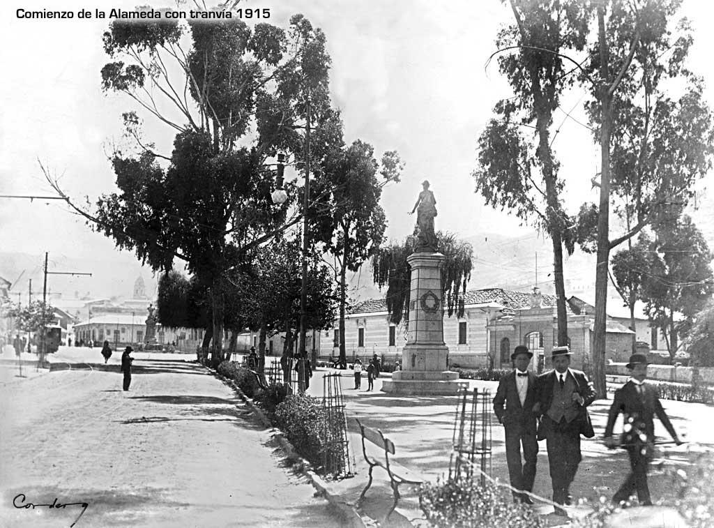 Comienzo de la Alameda en 1915
