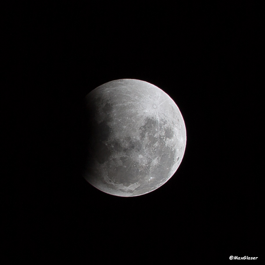 Luna durante el eclipse