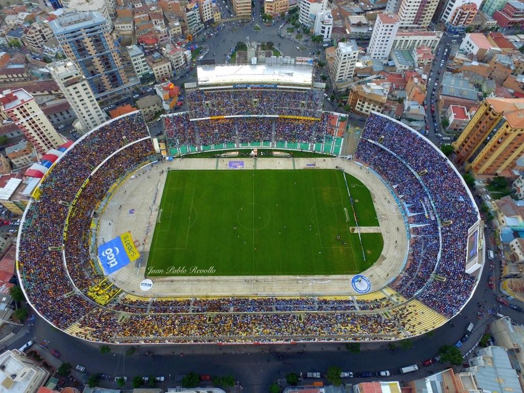 Dron sobre el Estadio en el clásico