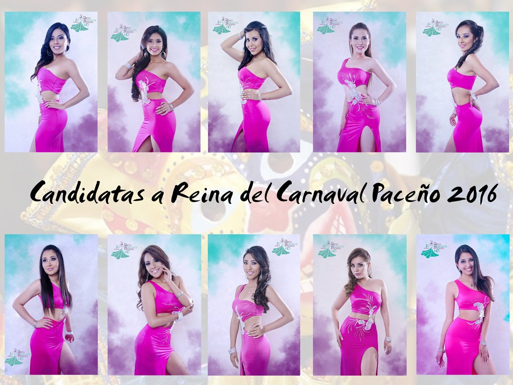 Candidatas a Reina del Carnaval Paceño 2016
