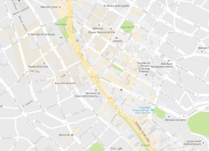 El mapa de la ciudad de La Paz en Google Maps