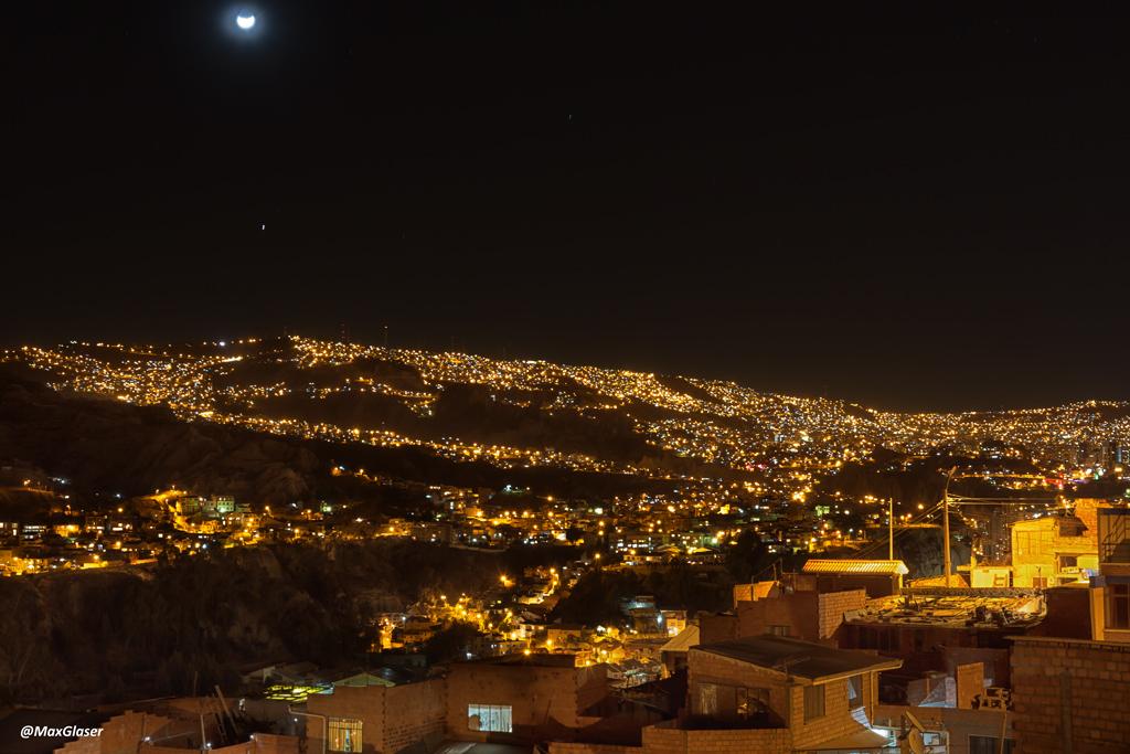 La Paz de noche - Luna