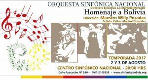 Concierto Homenaje a Bolivia – Centro Sinfónico Nacional