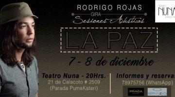 Sesiones Acústicas de Rodrigo Rojas – Teatro Nuna