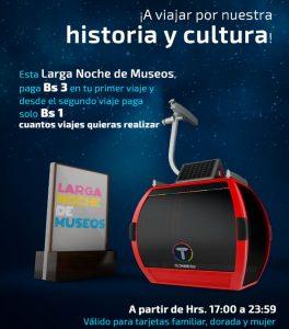 Rutas con el Teleférico – Larga Noche de Museos 2018 en La Paz