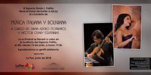 Concierto de Música Italiana Boliviana – Espacio Simón I. Patiño