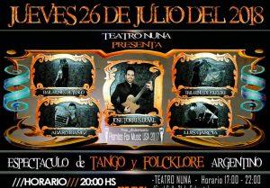 Espectáculo de Tango y Folklore Argentino – Teatro Nuna