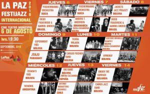 La Paz Festijazz 2018 – Programa