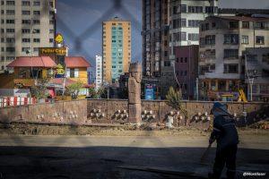 Comienzan las obras del viaducto Tejada Sorzano en la plaza del Estadio