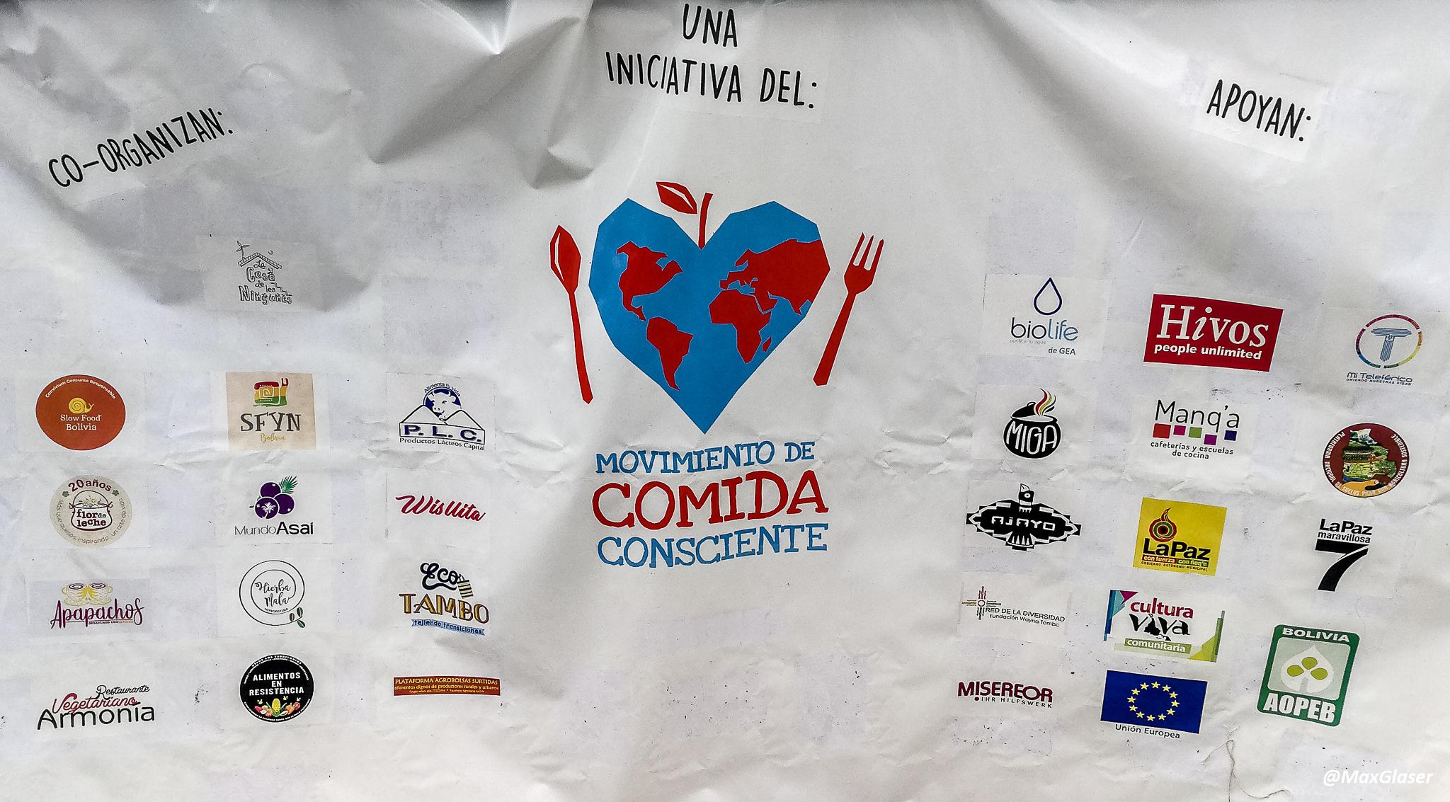Grupos que participan en el movimiento de Comida Consciente
