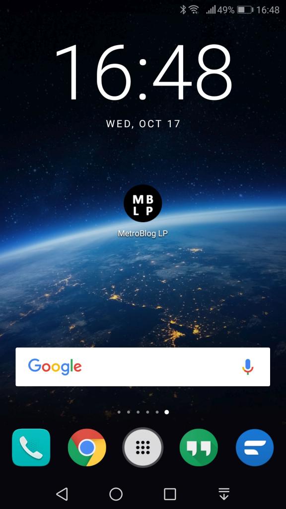 El MetroBlog de La Paz como aplicación en un teléfono inteligente (smartphone)