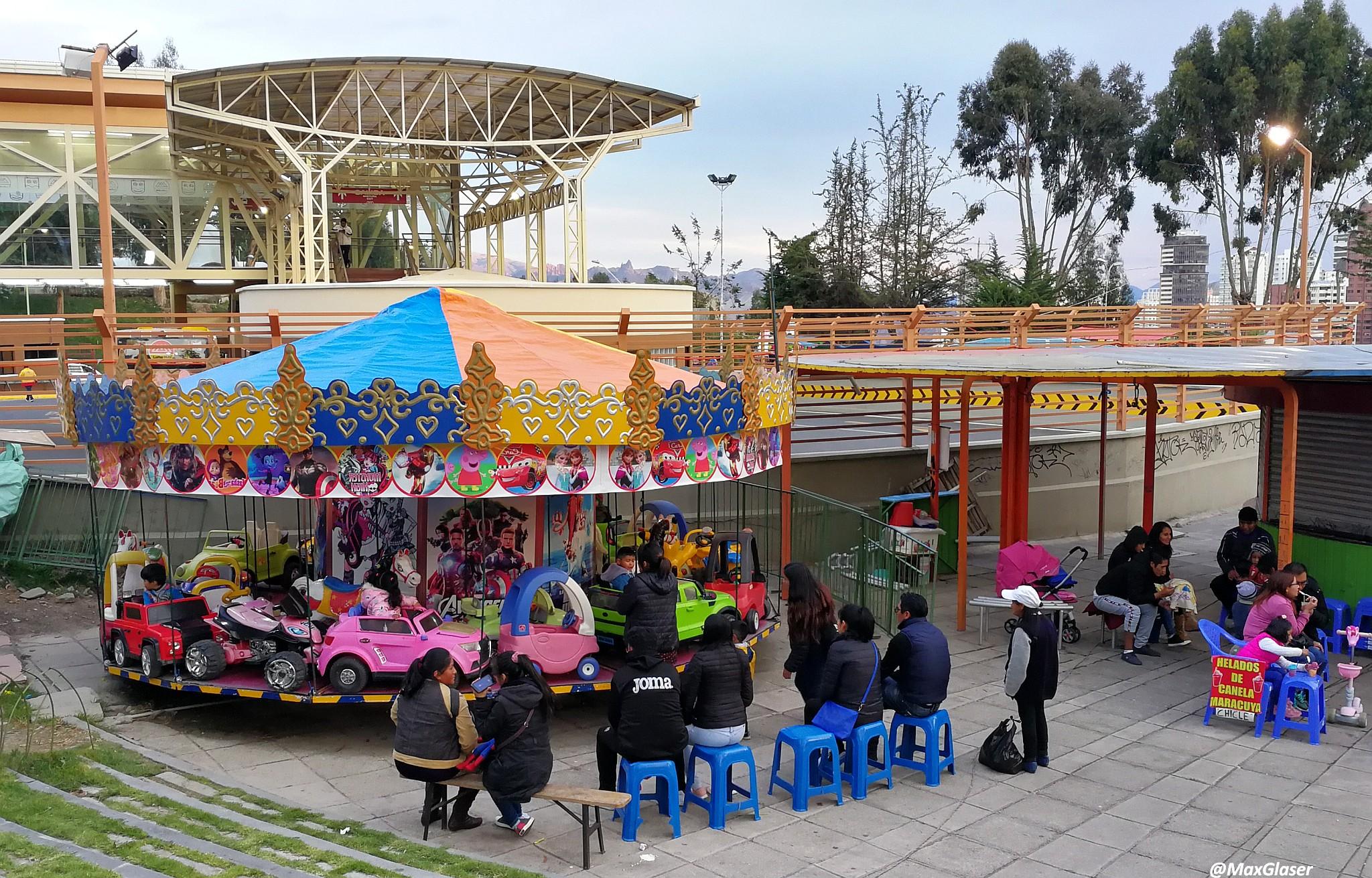 Carrusel en la Feria Navideña