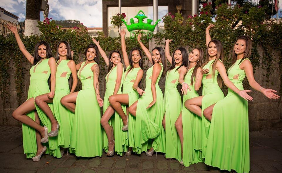 Candidatas a Reina del Carnaval Paceño 2020